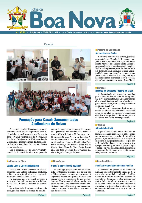 c17385035022 Folha da Boa Nova - Fevereiro 2019 by Dicoese de Governador Valadares -  issuu