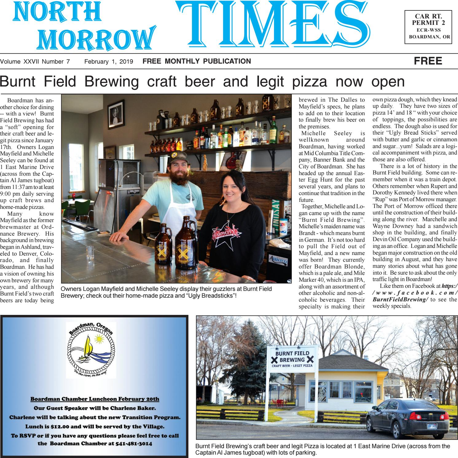 Boardman Calendar February 2019 February, 1, 2019 by North Morrow Times   issuu