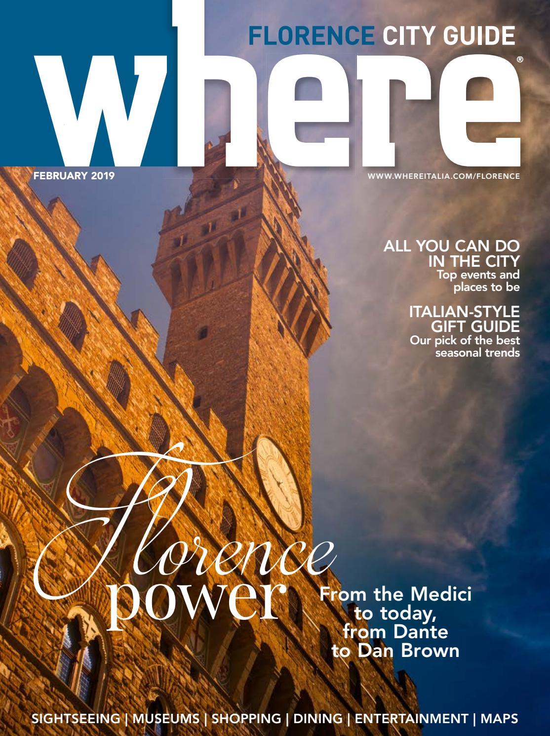 Where Magazine Florence Feb 2019 By Morris Media Network Issuu