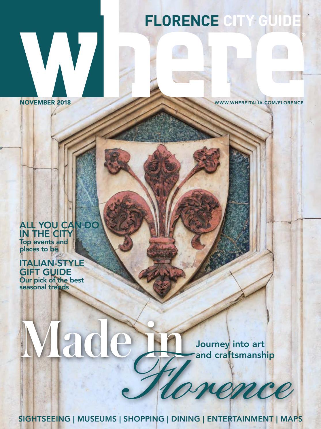Ab Creative Scandicci where magazine florence nov 2018 by morris media network - issuu