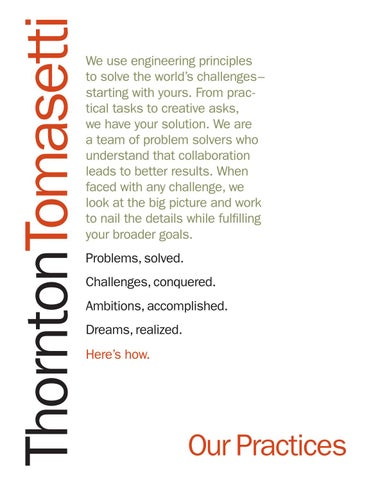 Our Practices by Thornton Tomasetti - issuu