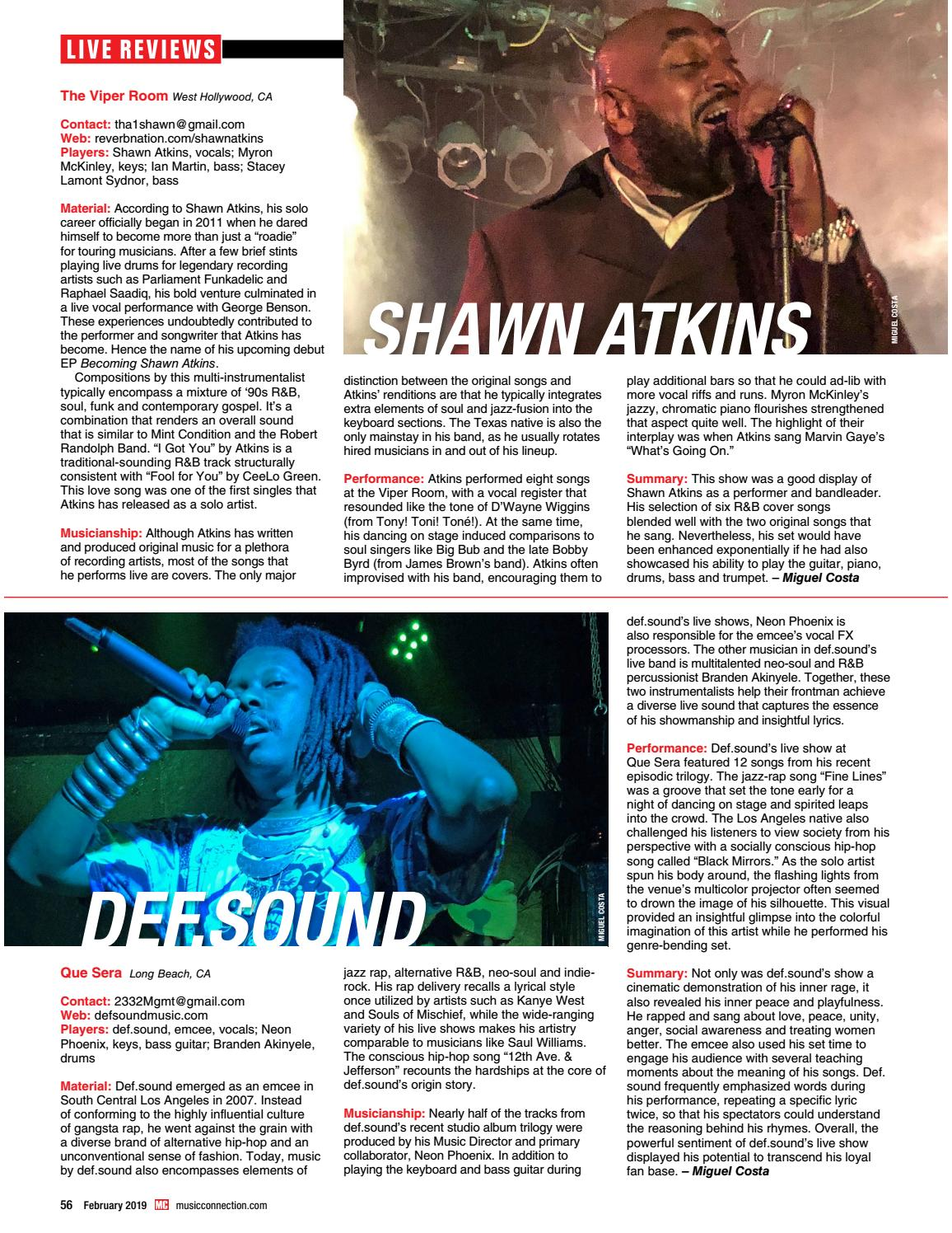 Music Connection February 2019 by Music Connection - issuu
