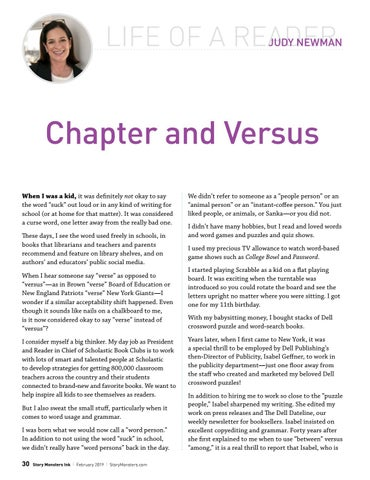 Page 30 of Life of a Reader: Chapter and Versus