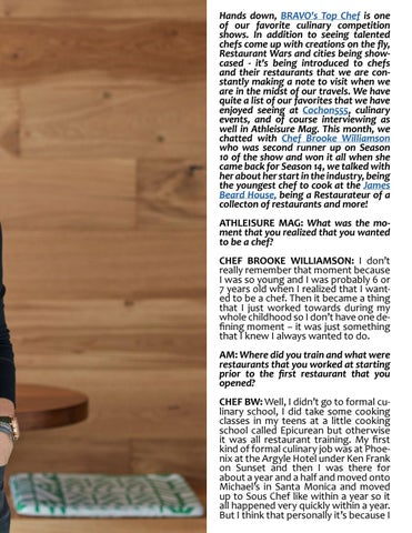 Page 99 of ATHLEISURE MAG JAN 2019 | SEASONALITY & LOCALITY WITH CHEF BROOKE WILLIAMSON