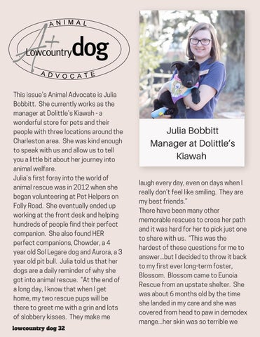 Page 32 of Lowcountry Dog Animal Advocate