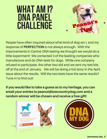 Page 5 of PEANUT's TIPS: DNA PANEL CHALLENGE