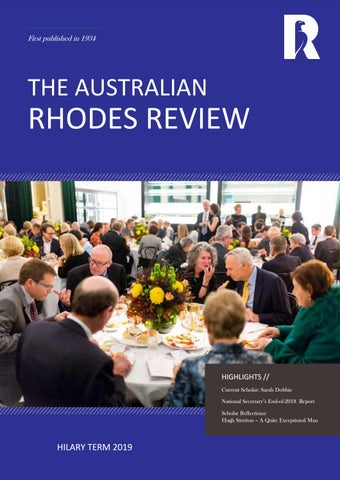 The Australian Rhodes Review - Hilary Term 2019 by Rhodes