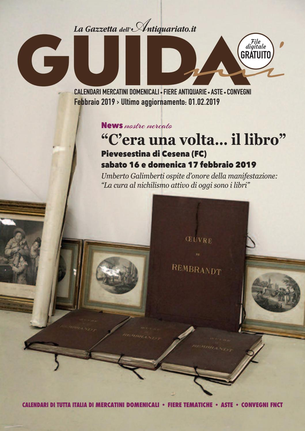 Calendario Aste Antiquariato Italia.Guidami Febbraio 2019 By La Gazzetta Dell Antiquariato Issuu