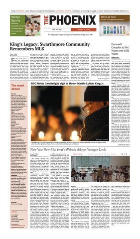 Swarthmore Phoenix, January 31, 2019 by The Phoenix - issuu
