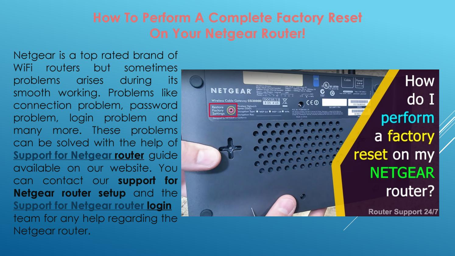 How To Perform A Complete Factory Reset On Your Netgear Router! by