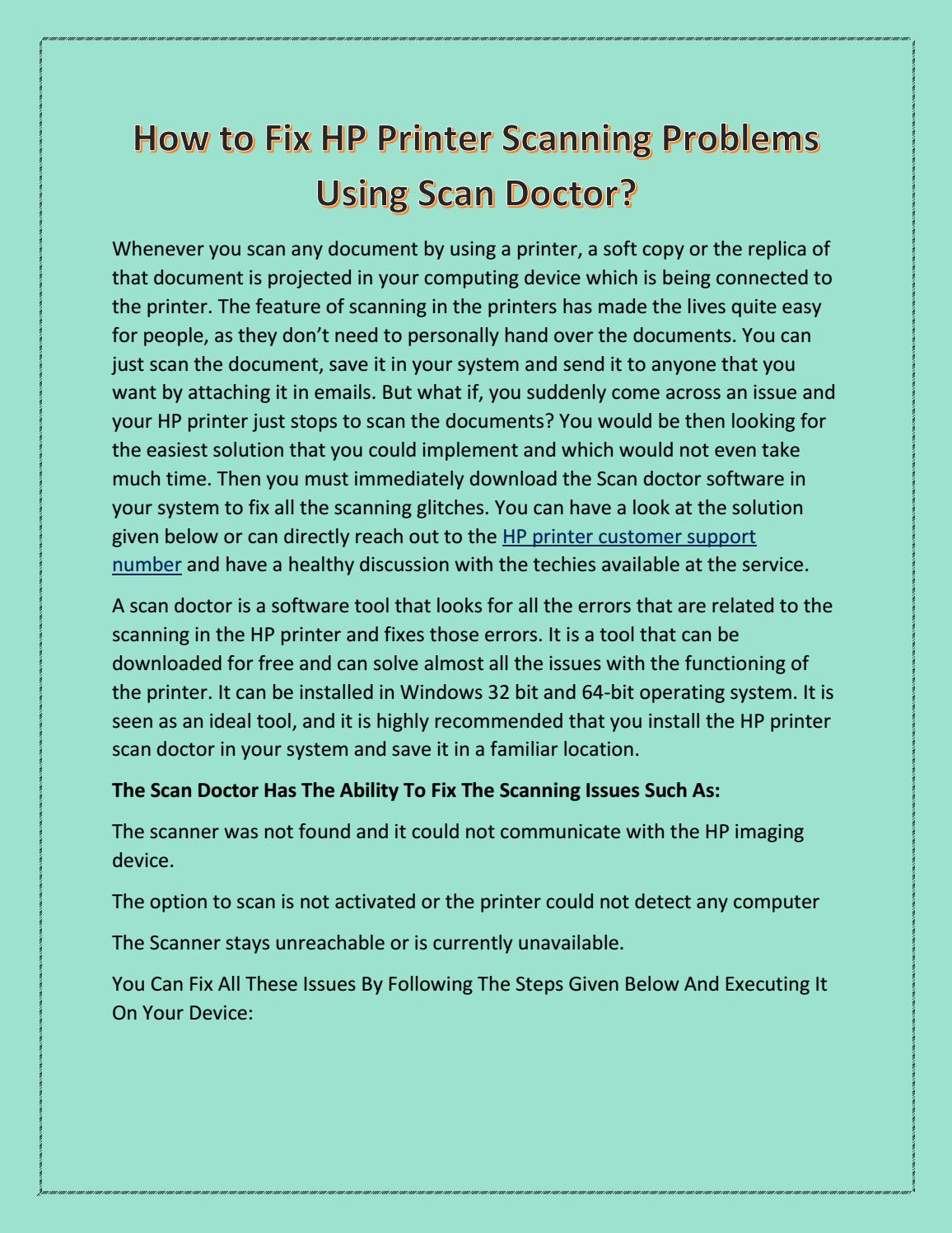 1-855-228-6818 How to Fix HP Printer Scanning Problems Using Scan