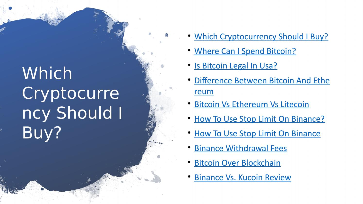 why should we use cryptocurrency