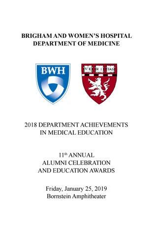 Brigham Department of Medicine Awards Booklet by Tori Noel
