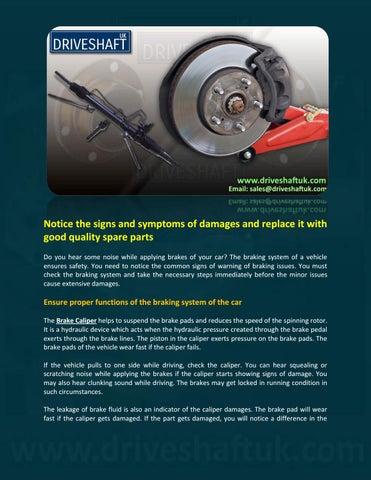 Brake Caliper by Driveshaft uk - issuu