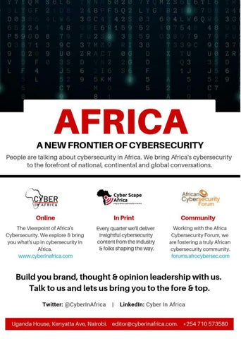Page 3 of Cyber In Africa - The Viewpoint of Africa's Cybersecurity.