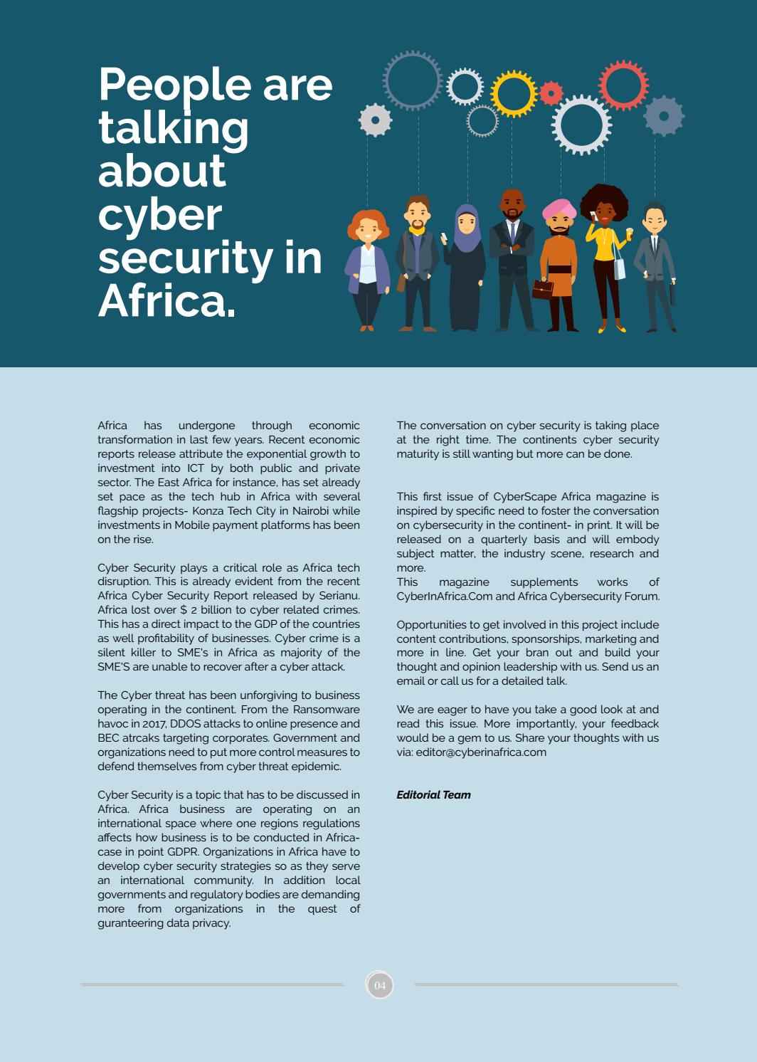 CyberScape Africa Magazine by Cyber In Africa - issuu