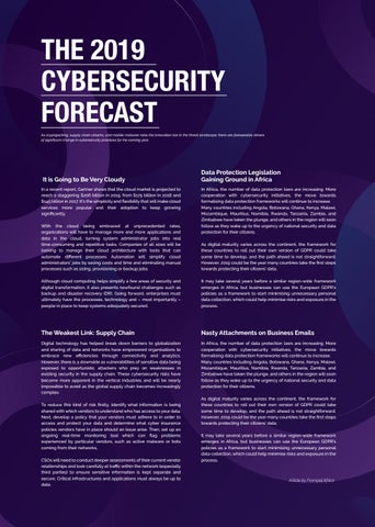Page 8 of The 2019 Africa Cyebrsecurity Forecast