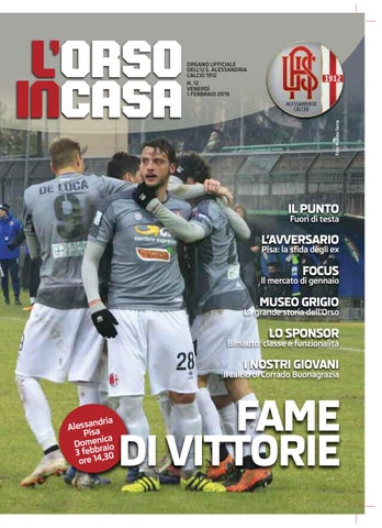 85186091dcb633 L'Orso in casa n.12 2018/19 by Alessandria Calcio - issuu