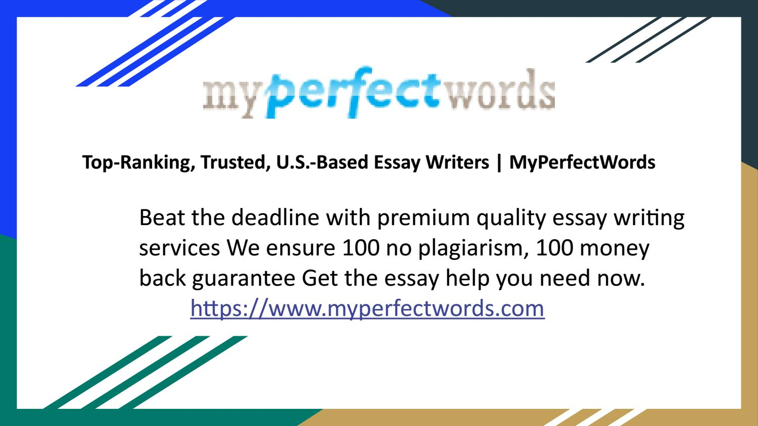 Top-Ranking, Trusted, U.S.-Based Essay Writers | MyPerfectWords