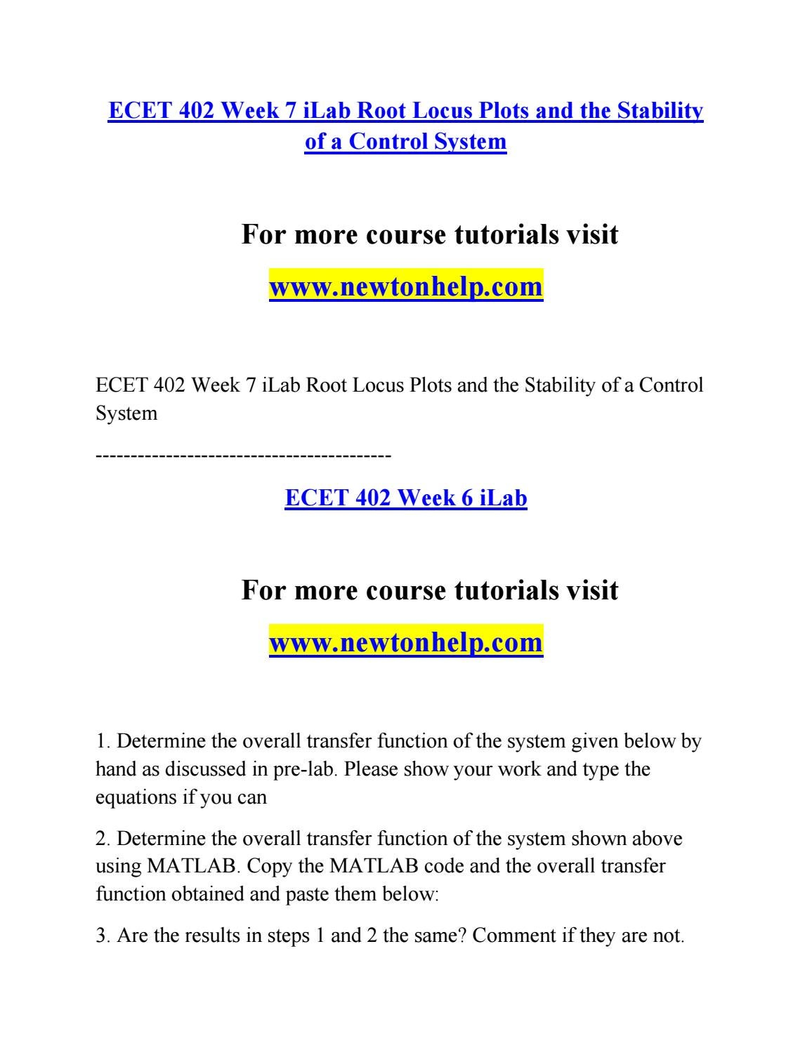 ECET 402 Inspiring Minds/newtonhelp com by dend robiumorchids567 - issuu