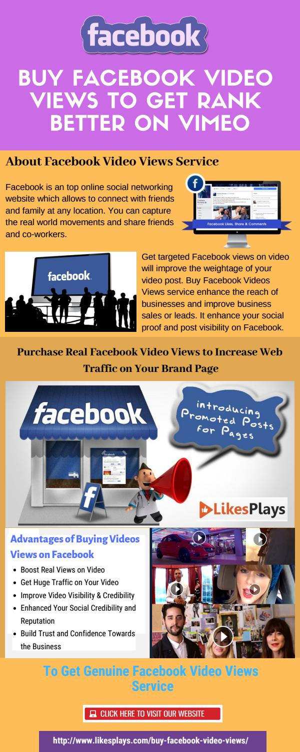 Buy Facebook Video Views to Get Rank Better on Vimeo by Lyn