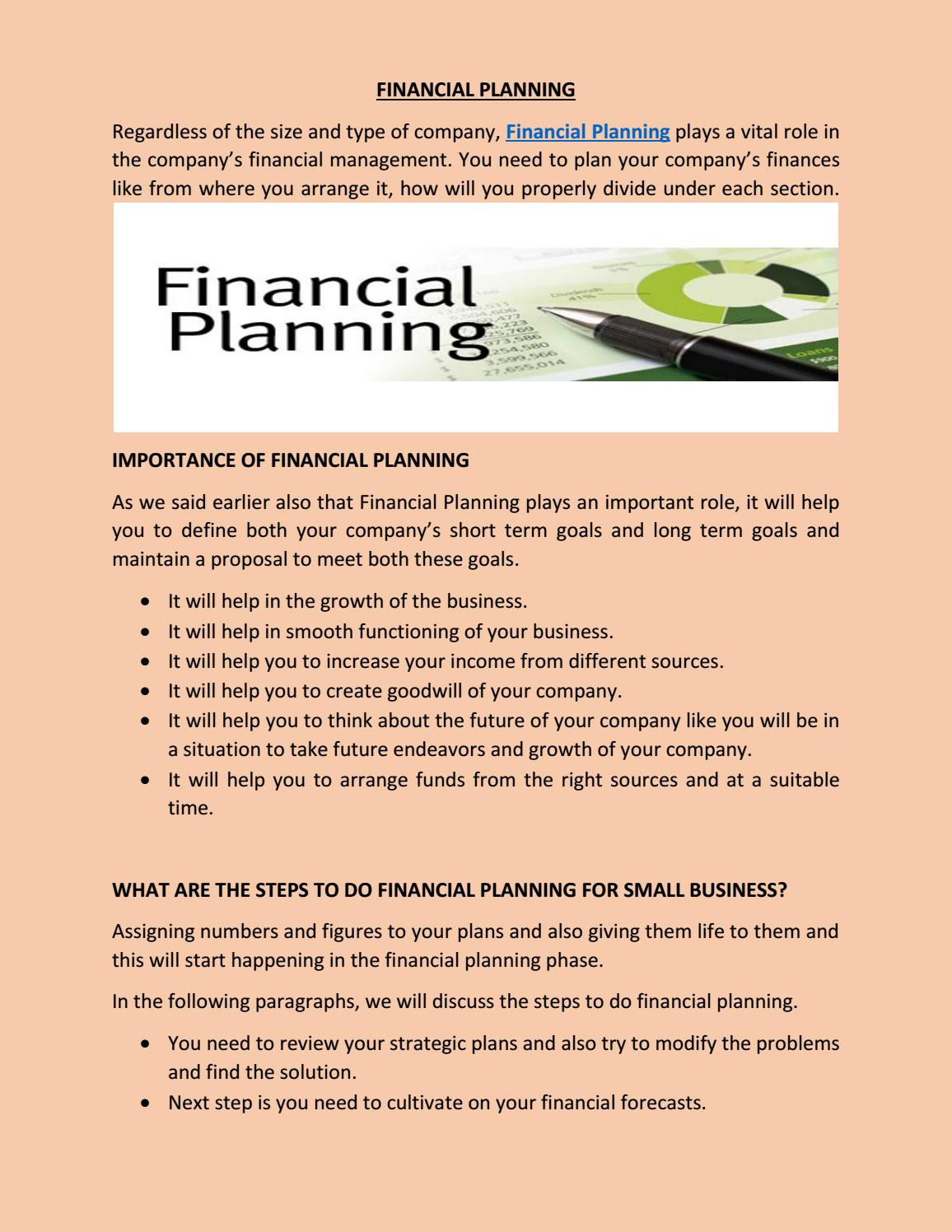 FINANCIAL PLANNING by Anakeen - issuu
