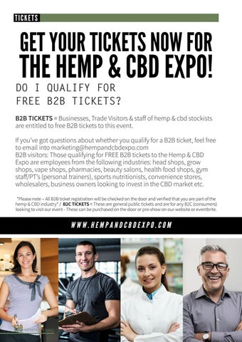 Page 134 of GET YOUR TICKETS NOW-For the Hemp & CBD Expo