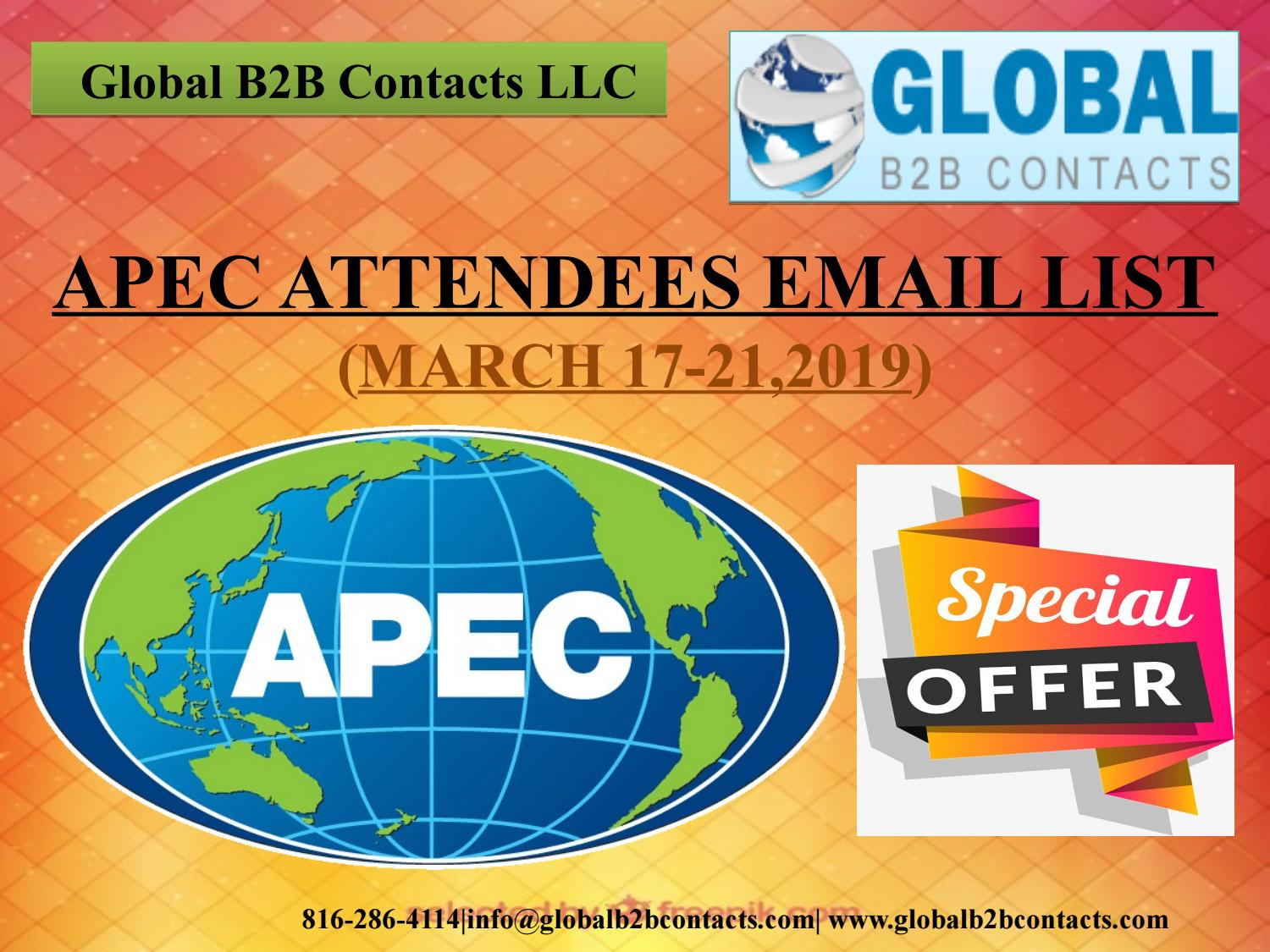 Apec Attendees Email List by Dayan Iola - issuu