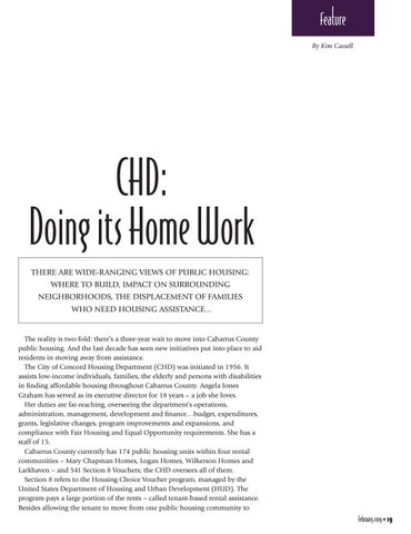 Page 19 of CHD: Doing its Home Work