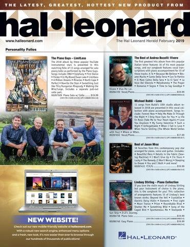 February 2019 HL Herald by Hal Leonard - issuu