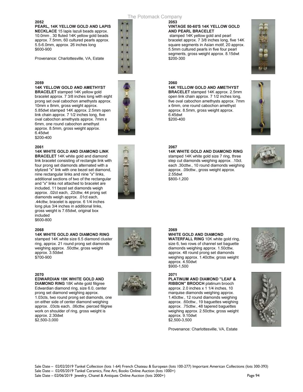 Potomack Co  Feb  2, 5, 6 Auctions Catalogue by The Potomack Company