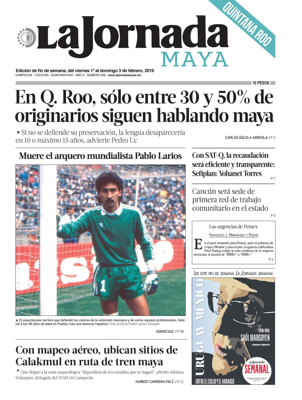 5b920e078f6dc La Jornada Maya · viernes 1º de febrero de 2019 by La Jornada Maya - issuu