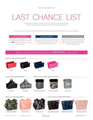 d18a184db8f3 Thirty-One Gifts Fall 2018 Retirement list by kristinmoses - issuu