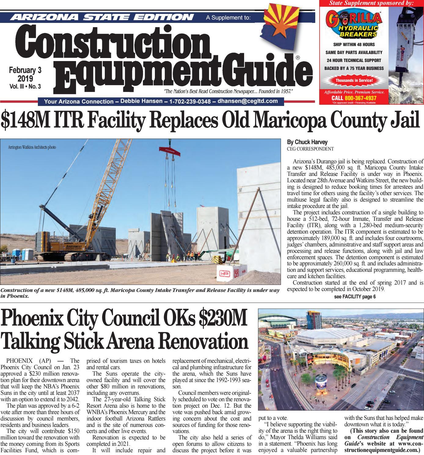 Arizona 3 February 3, 2019 by Construction Equipment Guide