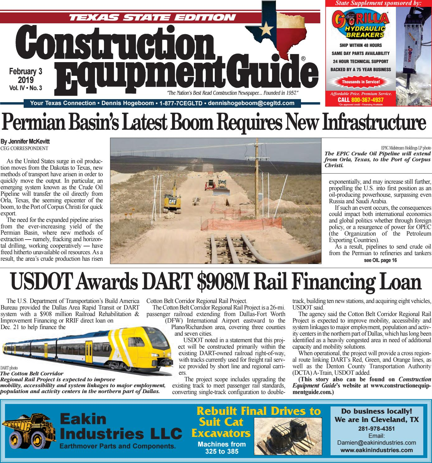 Texas 3 February 3, 2019 by Construction Equipment Guide - issuu
