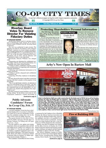 Co-op City Times 2/2/19 by Co-op City Times - issuu