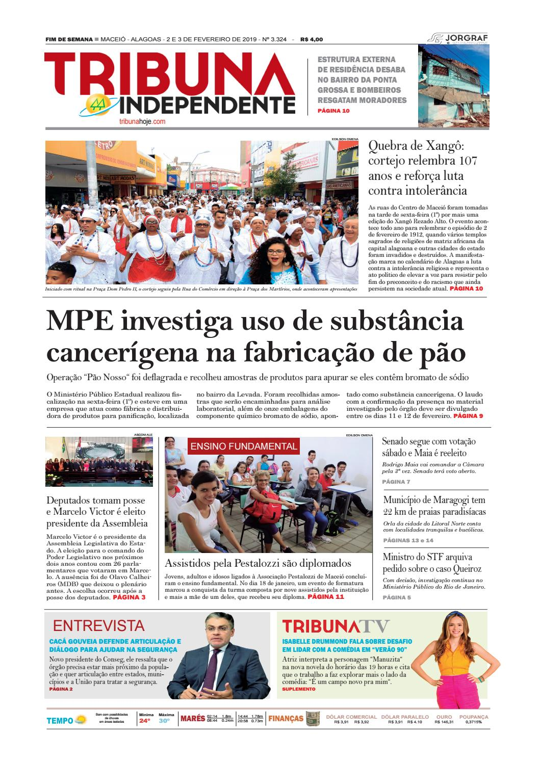 5b05f5cf97f Edição número 3324 - 2 e 3 de fevereiro de 2019 by Tribuna Hoje - issuu