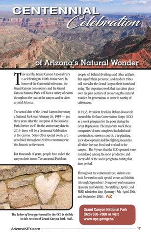 Page 17 of Centennial Celebration at Arizona's Natural Wonder