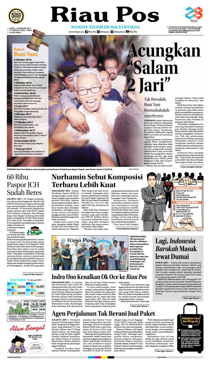 Riau Pos Edisi Sabtu 02 Februari 2019 by Riau Pos - issuu 74ea5cc38e