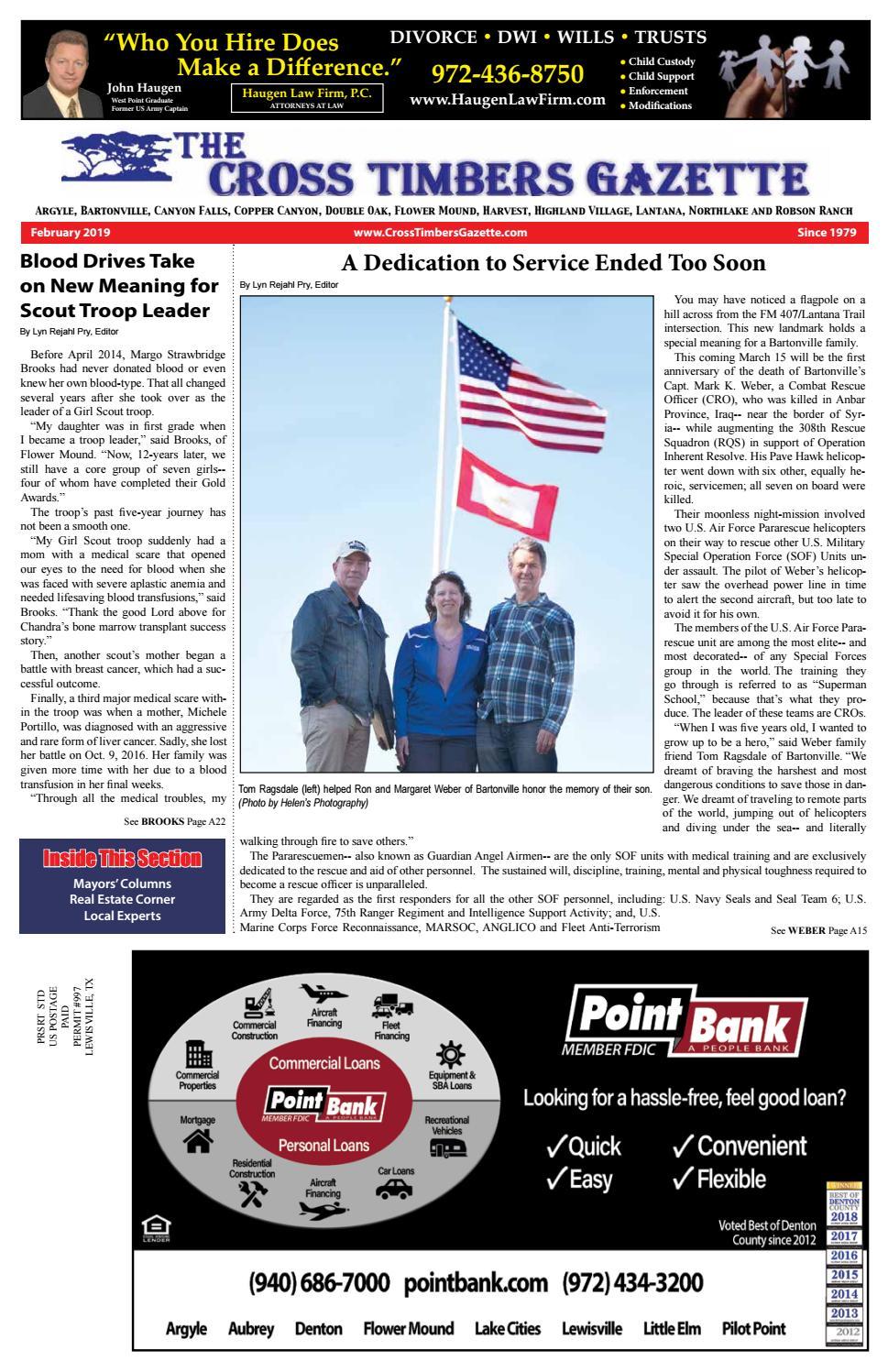 c188aada3e The Cross Timbers Gazette February 2019 by The Cross Timbers Gazette - issuu