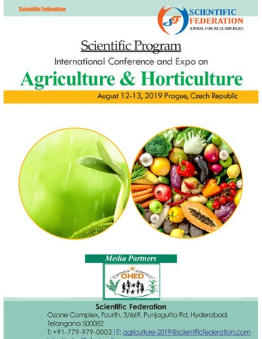 Agriuiculture 2019 Program by Agriculture conference - issuu