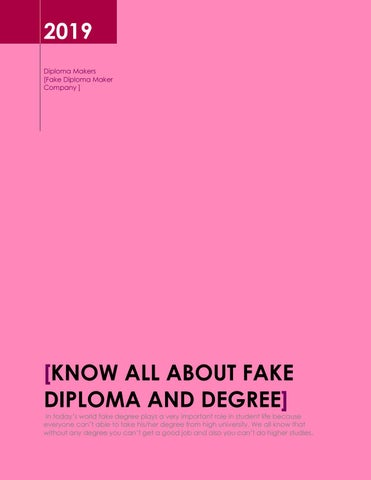 Know all about fake diploma and fake degree by Diploma