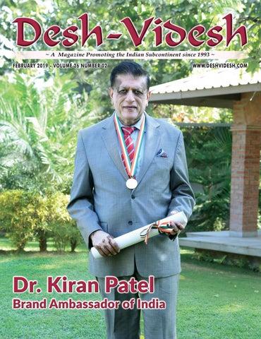 Desh-Videsh -- Dr  Kiran Patel Brand Ambassador of India by Desh
