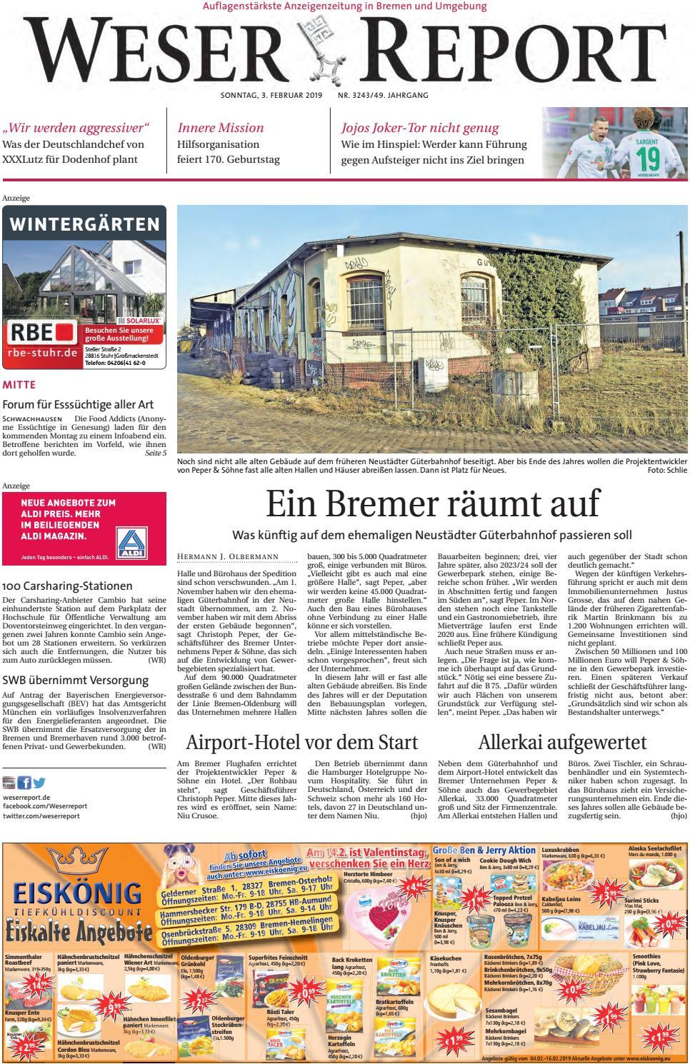 Weser Report - Mitte vom 03.02.2019 by KPS Verlagsgesellschaft mbH ...