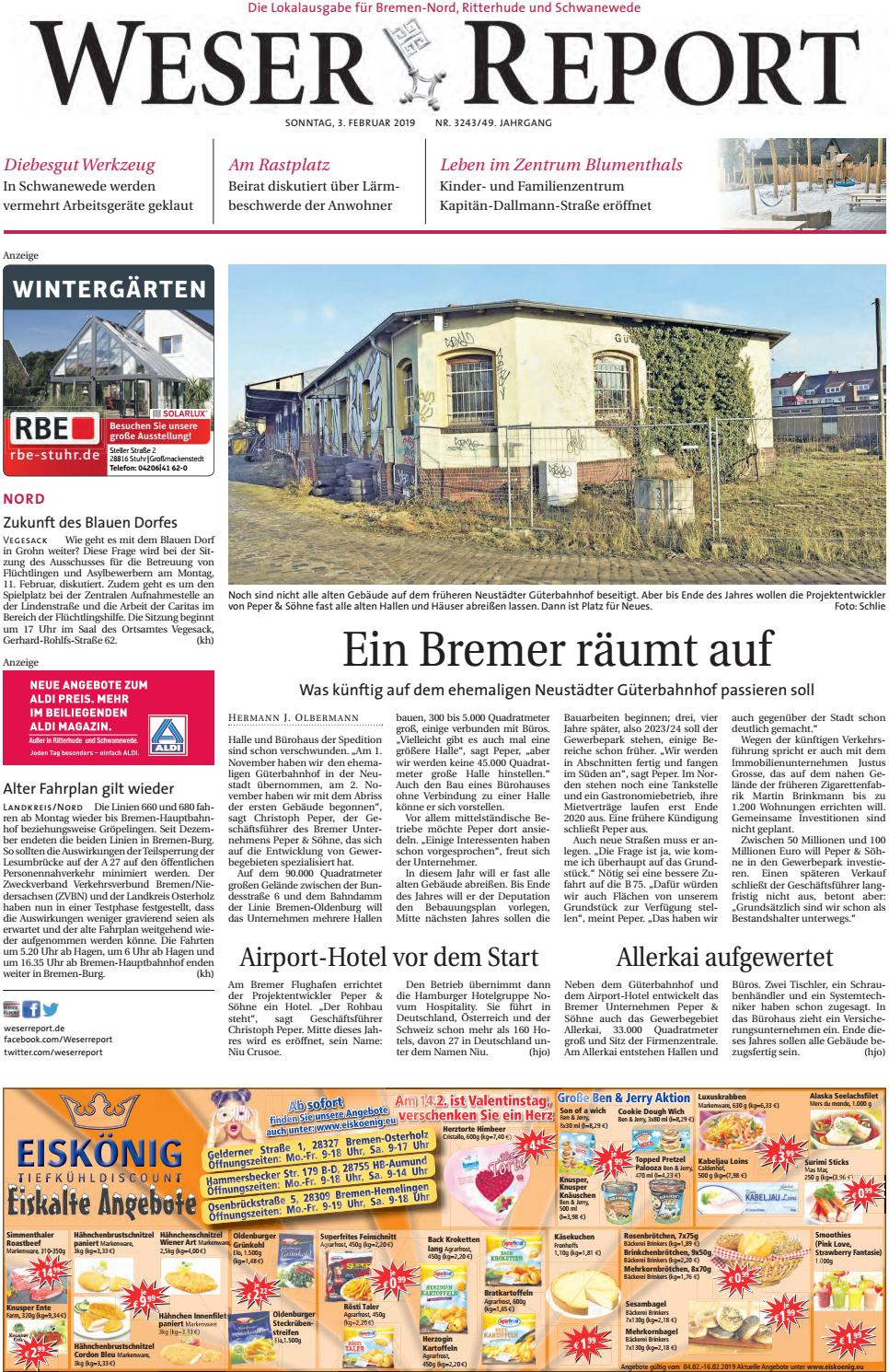 Weser Report - Nord vom 03.02.2019 by KPS Verlagsgesellschaft mbH ...
