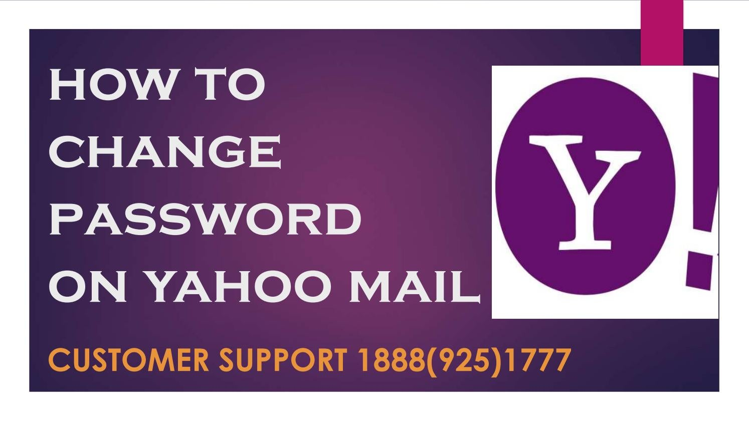 how to change password on yahoo mail