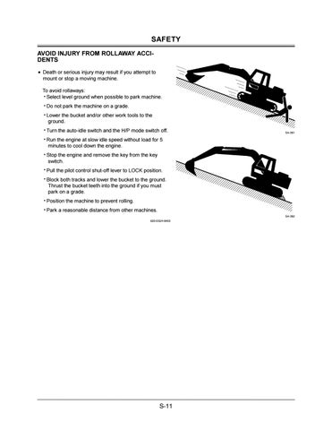 Hitachi Zaxis 330LC Excavator operator's manual SN 030645 and up by