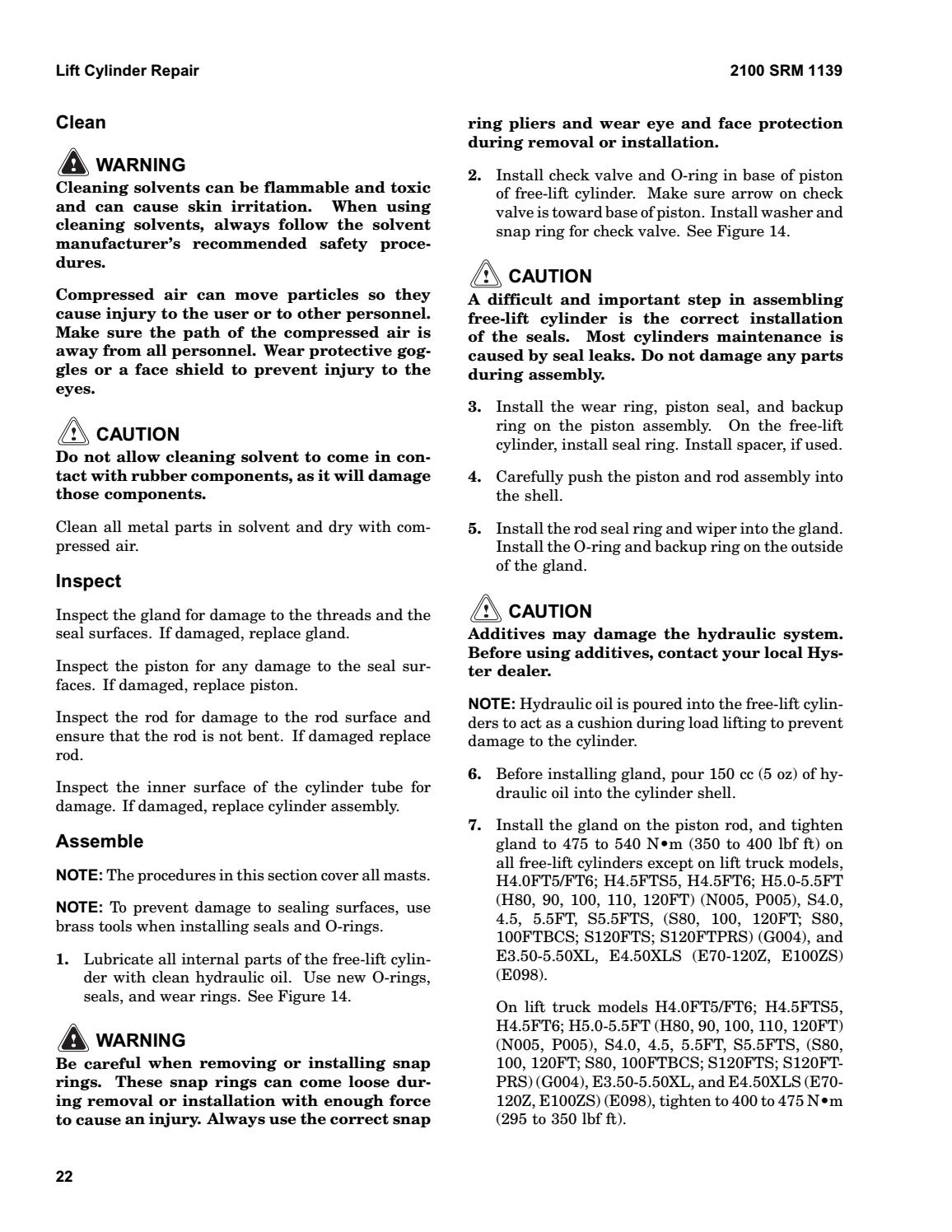 Hyster F001 (H30FT) Forklift Service Repair Manual by