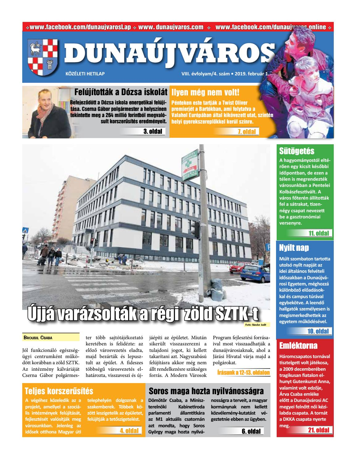 DKH 2019-02-01 by Dunaújváros Közéleti Hetilapja - issuu 442c4589f7