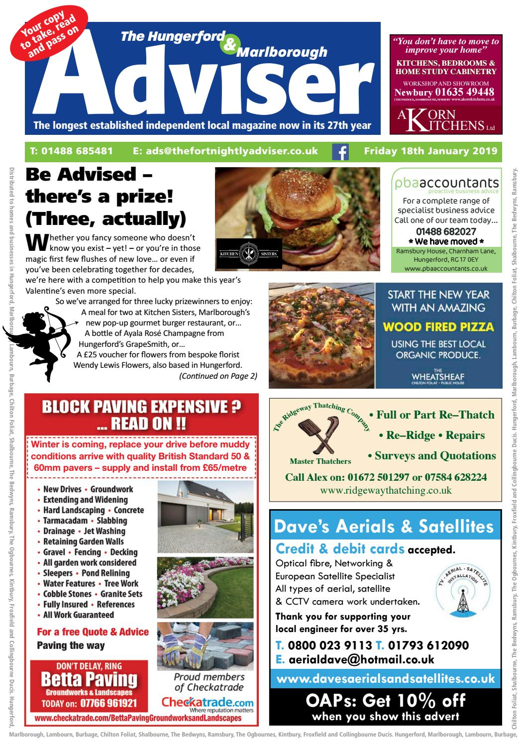 The Hungerford & Marlborough Adviser 18 January 2019 by The